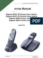 Gigaset 40xx Service Manual L2.5 v2.1