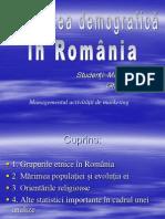 Realitatea demografică in România