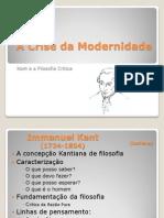 A Crise Da Modernidade Kant