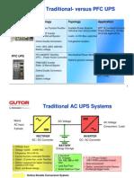 Gutor Traditional- Versus PFC UPS