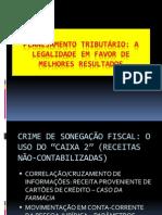 Tributário - Palestra sobre Planejamento Fiscal