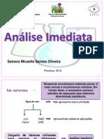 Apresentação análise imediata2