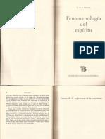 Hegel - Fenomenología del espíritu (Introducción). 1993