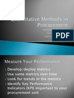Quantitative Methods in Procurement