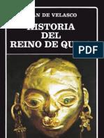 Juan de Velasco La Historia Del Reino de Quito