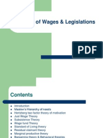 Theories of Wages and Wage Legislations