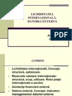 Tema 9. Lichiditatea Internationala. De