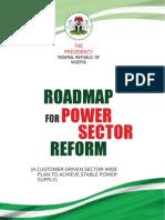 Roadmap for Power Sector Reform Full Version