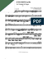 Albinoni Concerto in Bb Trumpet