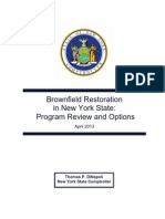 New York Comptroller Thomas DiNapoli Report on Brownfield Cleanup Program
