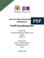 Contoh Profil Usahawan
