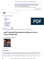 Saudi National Questioned in Boston Was on Terror Watch List _ FOX News & Commentary_ Todd Starnes
