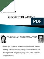 Bab IV Pengenalan Geometri Affine