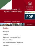 Performance of Pyramidal Fin Arrays