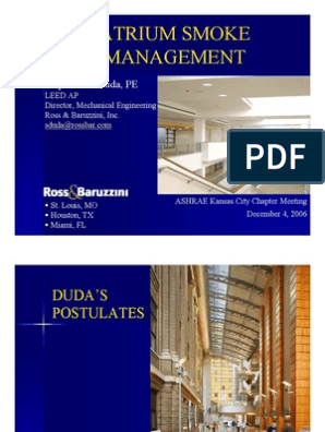 Atrium Smoke Management Ventilation Architecture Building