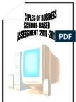 POB SBA - Outline of Presentation of Project