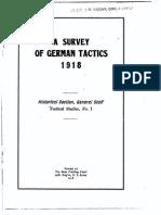 Survey of German Tactics 1918, AEF Pamphlet