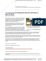 The Soup Kitchen Celebrates 30 Years With Gala on April 18, 2013