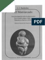 El Matriarcado - JJ Bachofen