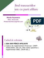 Auditul Tranzactiilor Incheiate Cu Parti Afiliate [Compatibility Mode]