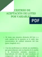 Muestreo de Aceptacion x Variables