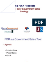 Leveraging FOIA Request for B2G Sales - Government Contracting