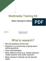 Mmtk Basic Research Methods