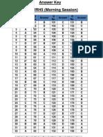 SSC CGL Set 112RH5 Answer Key exam held on 21-4-2013 (morning shift)