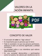 LOS VALORES EN LA EDUCACIÓN INFANTIL