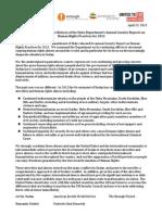 Sudan Human Rights Statement 22 April 2013