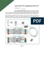 Cara Sharing Internet Untuk 2 Pc Menggunakan Kabel Lan