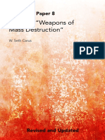 """Defining """"Weapons of Mass Destruction"""".  Center for the Study of Weapons of Mass Destruction. National Defense University. DR. W. SETH CARUS and DR. JOHN F. REICHART."""