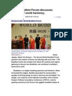 World Buddhist Forum Discusses Building of World Harmony