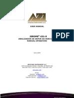 700-0094 (Jerome) 431-X Analizador de Vapor de Mercurio Manual Operativo