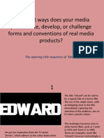 'Edward' Evaluation of Horror Conventions