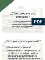 Como Preparar Una Propuesta