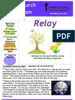 CCW April 2013 Newsletter