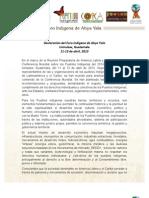Declaración del Foro Indígena de Abya Yala