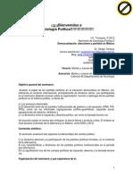 Sociología Política II, democratización y partidos 2013-P PROGRAMA