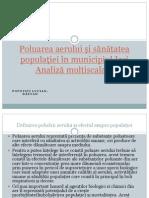 Poluarea aerului și sănătatea populației în Municipiul Iași