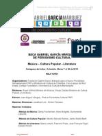 Relatoría de la Beca Gabriel García Márquez de periodismo cultural