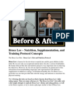 Bruce Lee – Nutrition, Supplementation, and Training Protocol Concepts