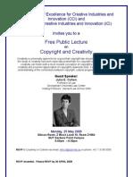 j Cohen Public Lecture Flyer