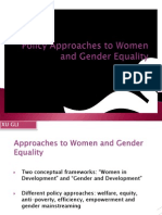 Policy Approaches to Women and Gender Equality