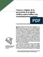 Ciencia y Religion de La Persecucion Al Reconciliacionismo