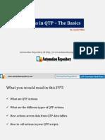 Qtp Actions the Basics