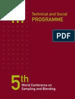5ta Conferencia Mundial Dee Toma de Muestras y Mezcla