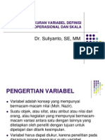 Pengukuran Variabel Definisi Operasional Dan Skala