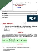 Eletrostática - exercícios comentados
