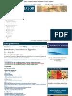 1 - Presidentes y Ministros de Argentina (1776-2012)